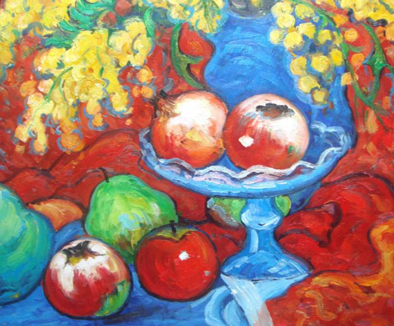 MODERN STILL LIFE FRUIT OIL PAINTING
