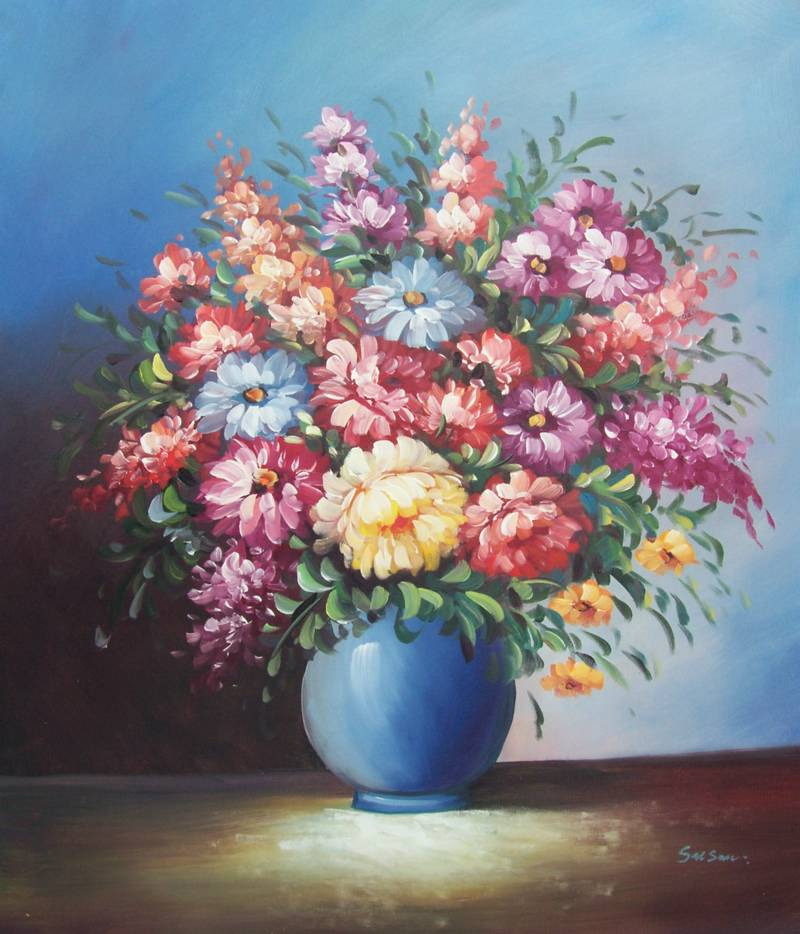 FLOWERS IN VASE PAINTINGS – Vases Sale