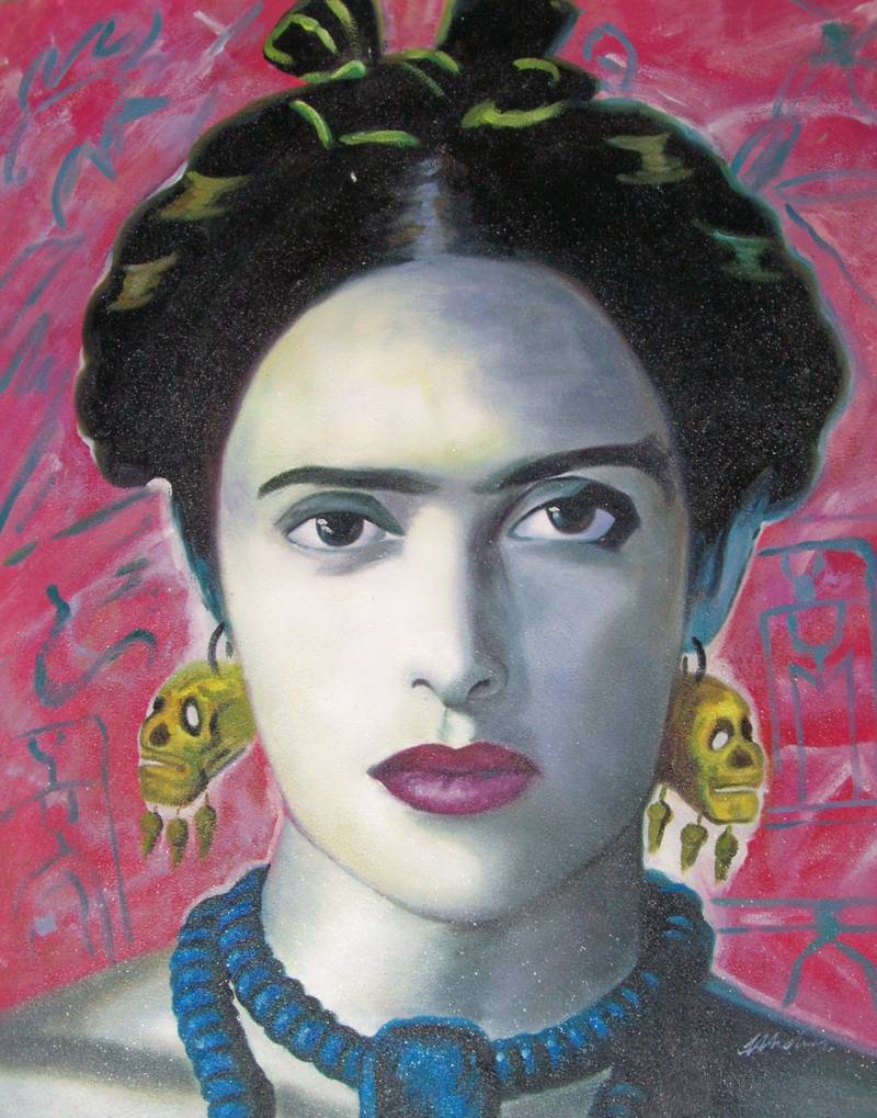 FRIDA KAHLO SELF PORTRAIT OIL PAINTING