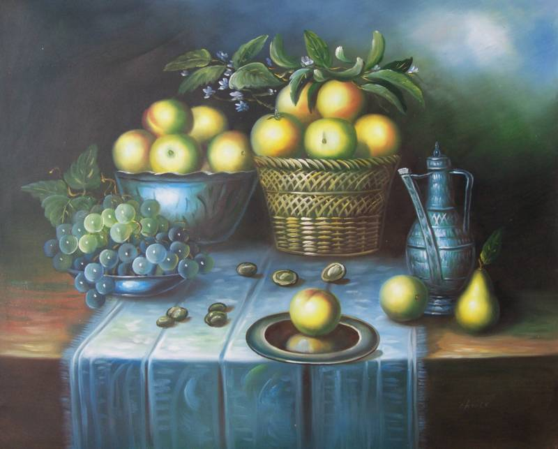 CLASSIC FRUIT STILL LIFE OIL PAINTING