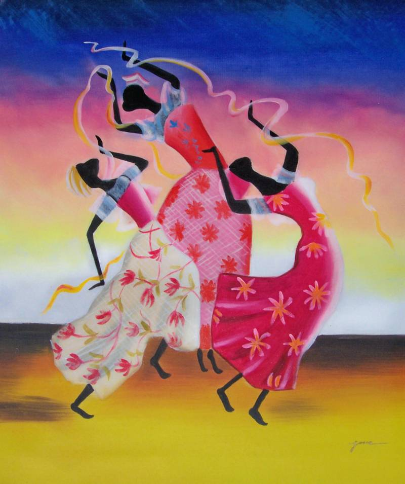 Famous African American Dance Paintings Oil Paintings Frames