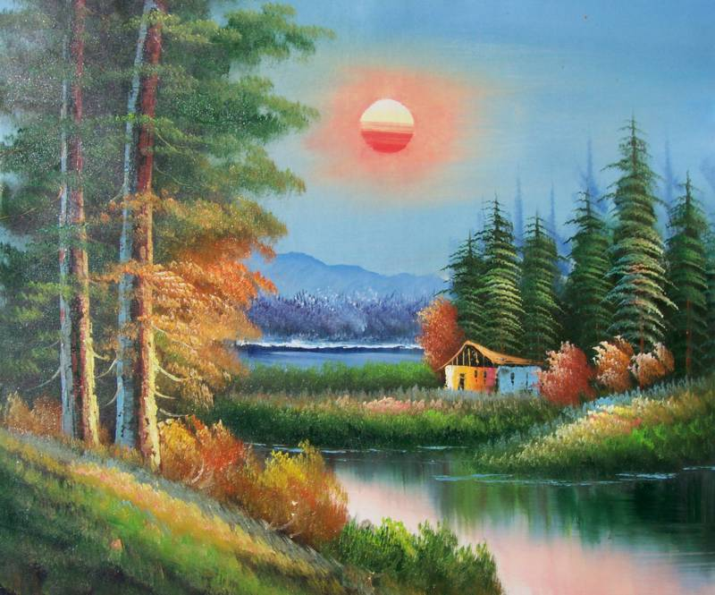 LAKE TAHOE CALIFORNIA LANDSCAPE OIL PAINTING
