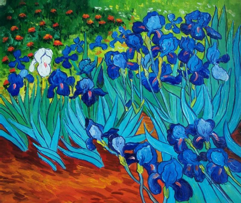 Vincent Van Gogh Oil Painting #106: The Irises Abstract Flowers