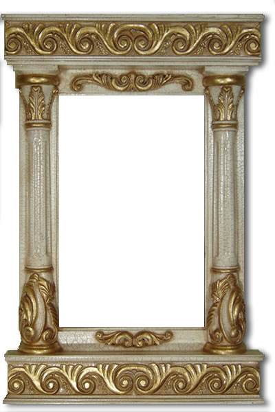 10 Inch Wide Tower Frame in Stone & Gold