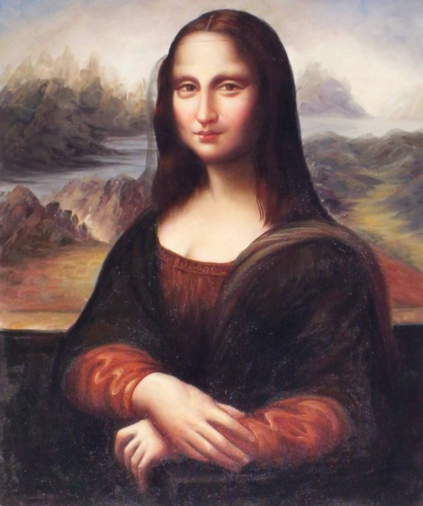 Old Masters Oil Painting #128: The Mona Lisa - Leonardo Da Vinci