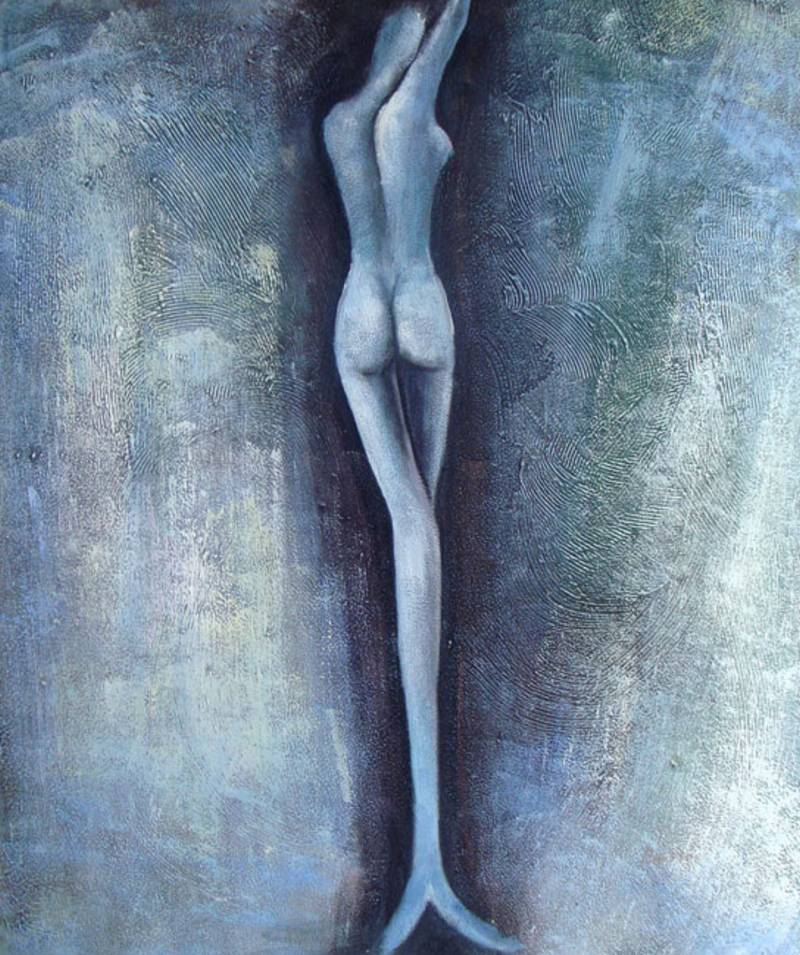 LONG LEGGED BEAUTY MODERN  OIL PAINTING