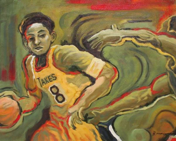 Sports Oil Painting #159:Kobe Bryant Basketball Player Sports