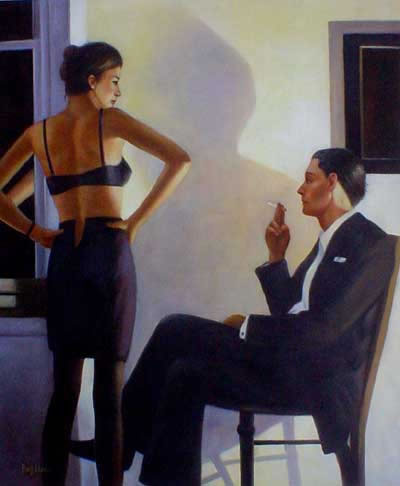 High Quality Portrait Oil Painting #183:Vettriano Reproduction E