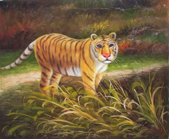 Animal Portrait Oil Painting #187:Tiger