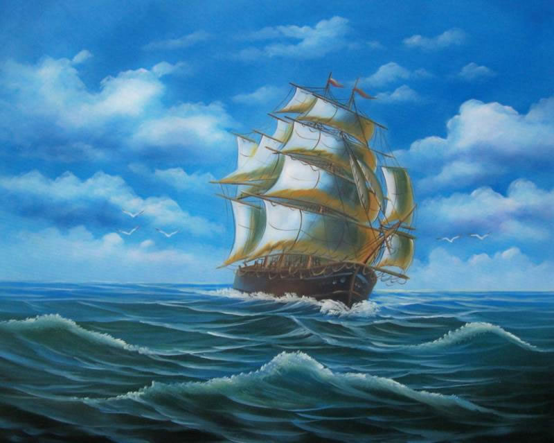 Pirate Ship Painting