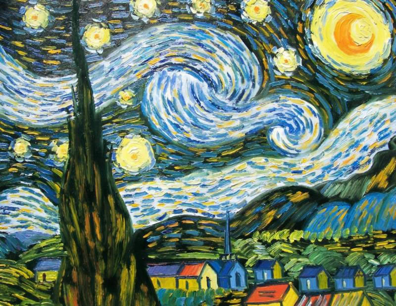Vincent Van Gogh Oil Painting #211: Starry Night