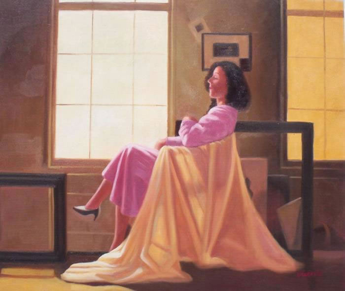 High Quality Portrait Oil Painting #267:Vettriano reproduction P
