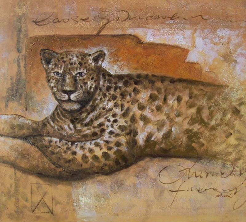 Animal Portrait Oil Painting #031:Cheetah
