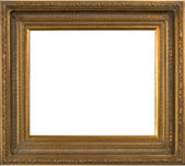 6 Inch Wide Roman Frame in Gold