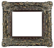 8 Inch Wide Majestic Frame in Cherry & Gold