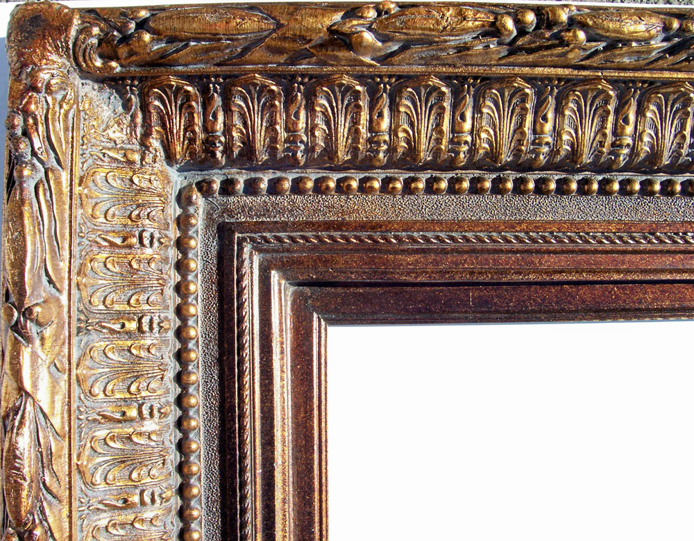 8 Inch Wide Royal Frame Close Up in Bronze