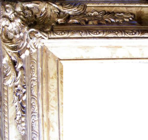 4.5 Inch Wide Ornate Pine Frame Antique Gold