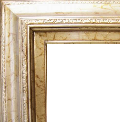 4.5 Inch Wide Deluxe XL Pine Frame Antique Gold