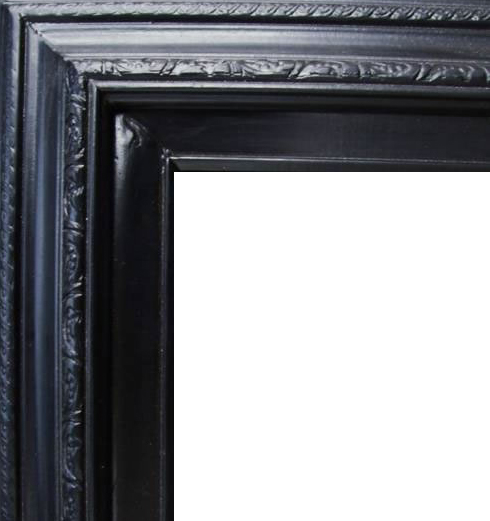 3 Inch Wide Deluxe Pine Frame Black