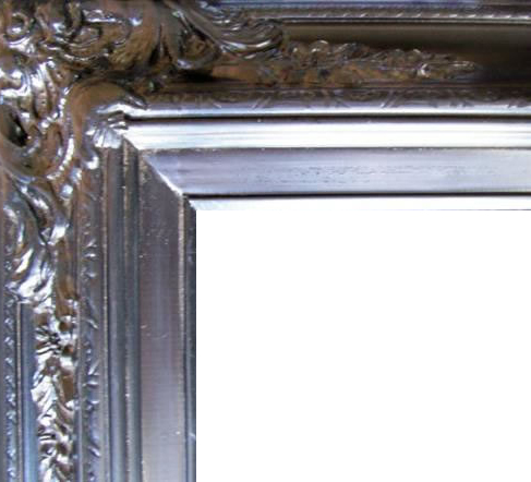 4.5 Inch Wide Ornate Pine Frame Black
