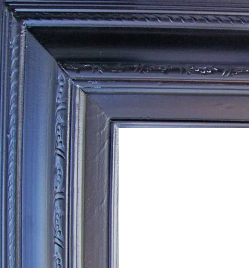 4.5 Inch Wide Deluxe XL Pine Frame Black