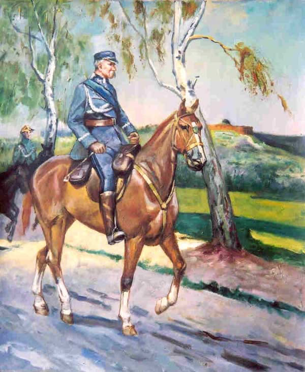American Southwest Oil Painting #CB-1-24:Civil War Officer Horse