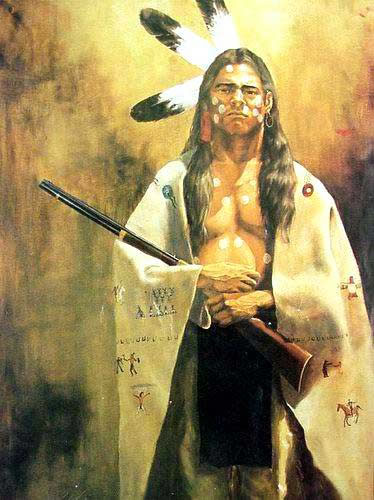 American Southwest Oil Painting #CB-1-27:American Indian Nude Ri