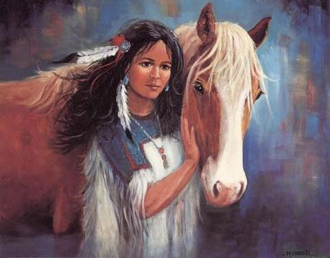 American Southwest Oil Painting #CB-1-40:Native American Woman