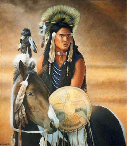 American Southwest Oil Painting #CB-2-10:Native American Woman R