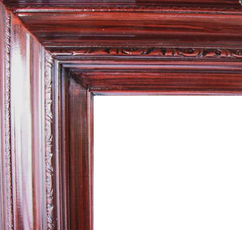 4.5 Inch Wide Deluxe XL Pine Frame Cherry