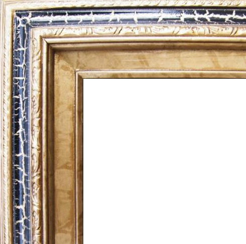 3 Inch Wide Deluxe Pine Frame Cracked Black