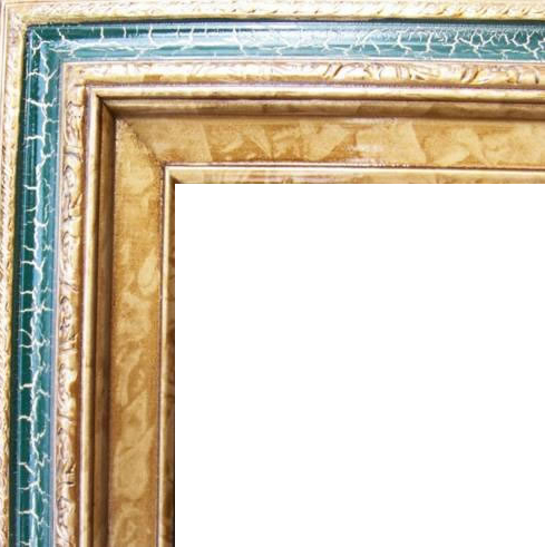3 Inch Wide Deluxe Pine Frame Cracked Green