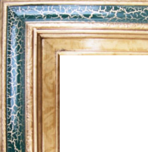 4.5 Inch Wide Deluxe XL Pine Frame Cracked Green