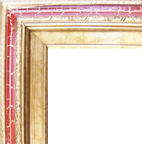 3 Inch Wide Deluxe Pine Frame Cracked Red