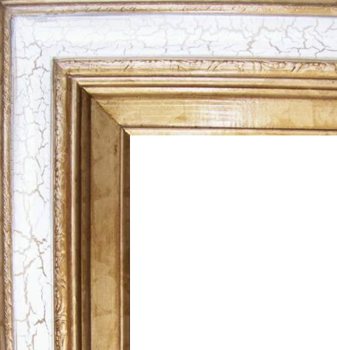 4.5 Inch Wide Deluxe XL Pine Frame Cracked White