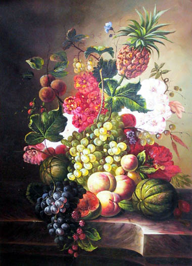 High Still Life Oil Painting #CST-08:Still Life Paintings Fruits