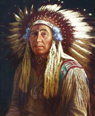 American Southwest Oil Painting #66:Native American indian Warri