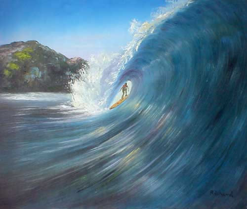 Original Oil Paintings for sale by Artist Larry Wall - Ocean Surf ...