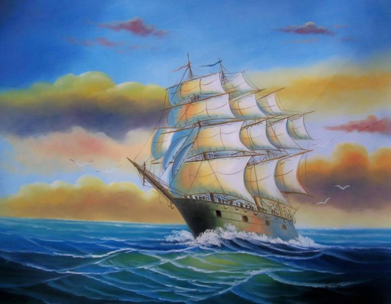 Clipper Ships Oil Painting #583:Santa Maria Christopher Colombus