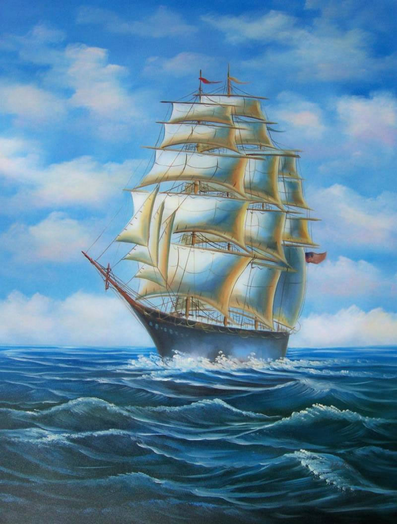 Old Pirate Ship Painting