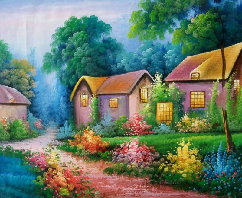 Nature scenery nature landscape paintings for Oil painting scenery