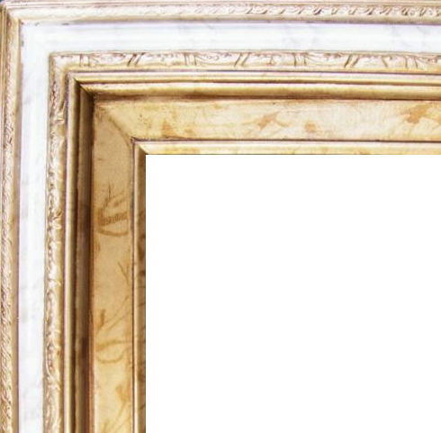 3 Inch Wide Deluxe Pine Frame Gold Marble