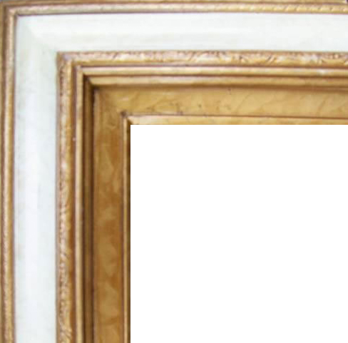 4.5 Inch Wide Deluxe XL Pine Frame Gold Marble