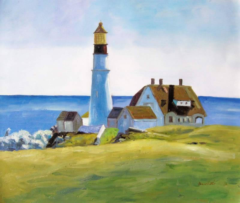 Edward Hopper Oil Painting #H059-605:Lighthouse Sunny Day