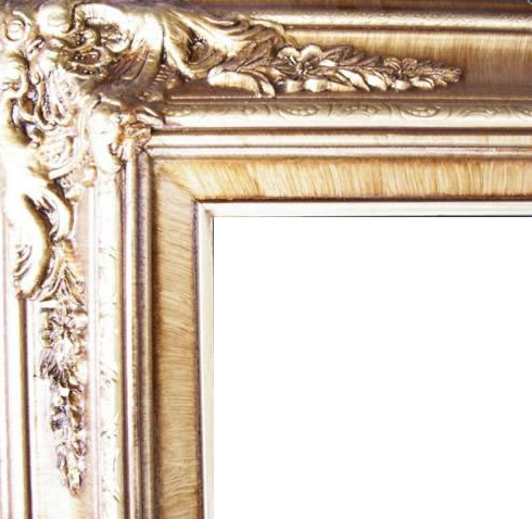 4.5 Inch Wide Ornate Pine Frame Honey