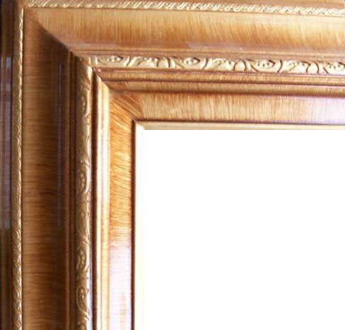 4.5 Inch Wide Deluxe XL Pine Frame Honey