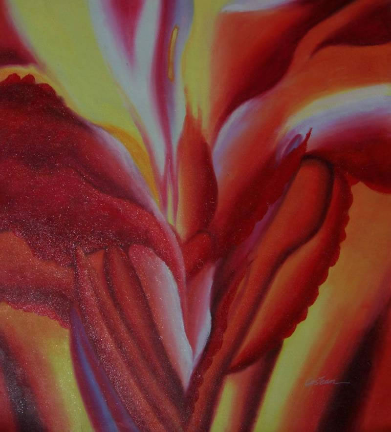 High Quality Flower Oil Painting #KEE09-617:Georgia O'Keeffe Red