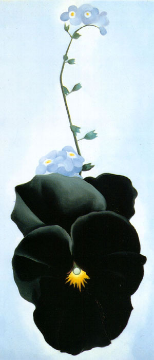 High Quality Flower Oil Painting #KEE26-618: Georgia O'Keeffe Bl