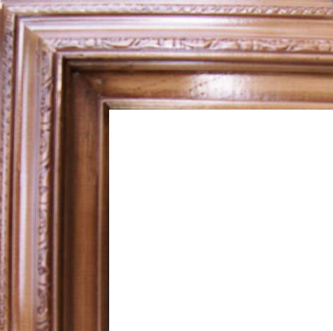 3 Inch Wide Deluxe Pine Frame Mahagony