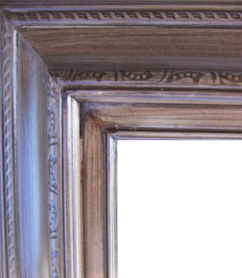 4.5 Inch Wide Deluxe XL Pine Frame Mahagony